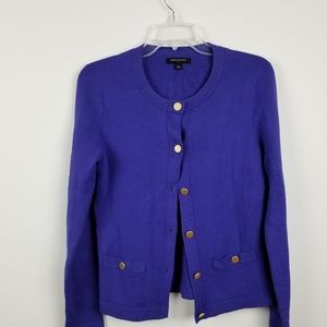 Banana republic purple button up cardigan
